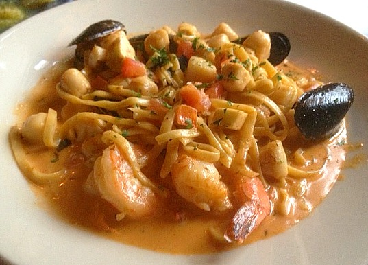 Spicy Shellfish Linguine