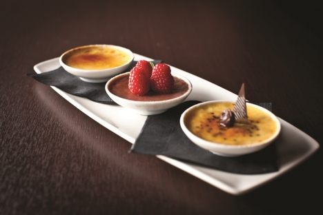 CineBistro creme brulee trio - photo credit Grant Perry