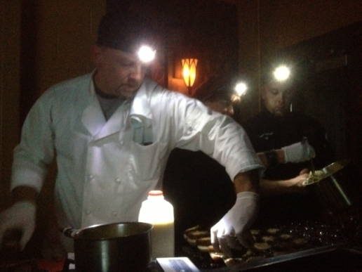 Chefs in dark