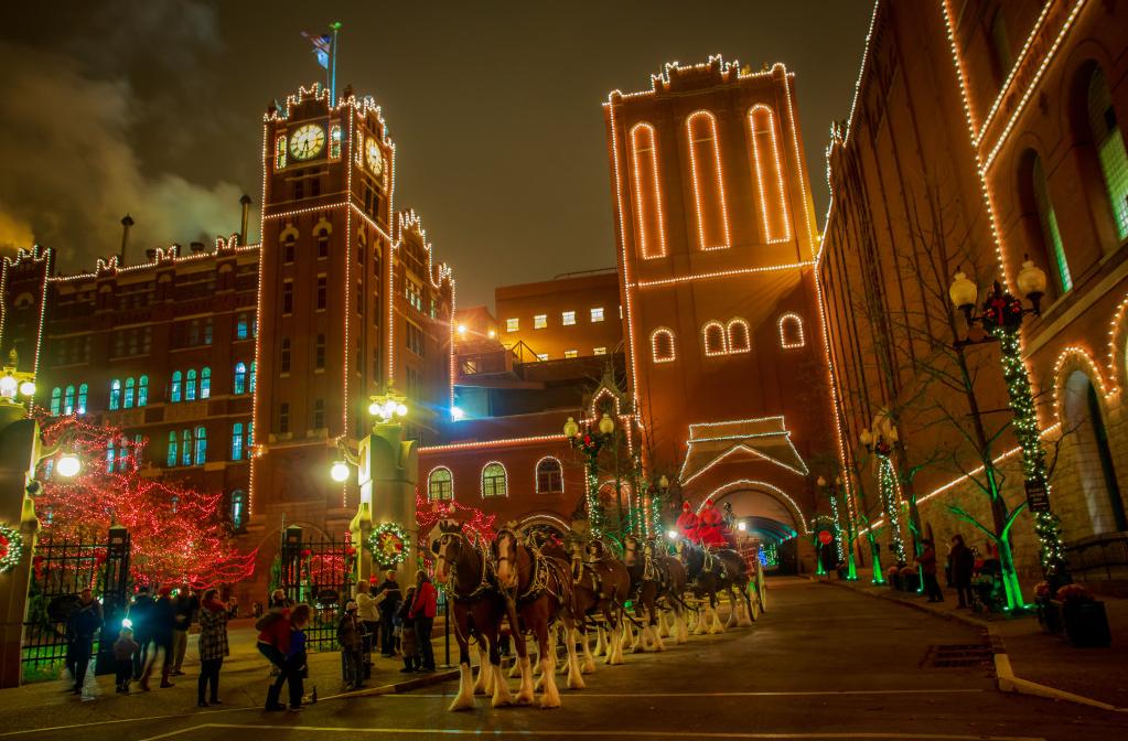 A B Lights It Up For The Holidays – Food Talk STL - Budweiser Christmas Lights