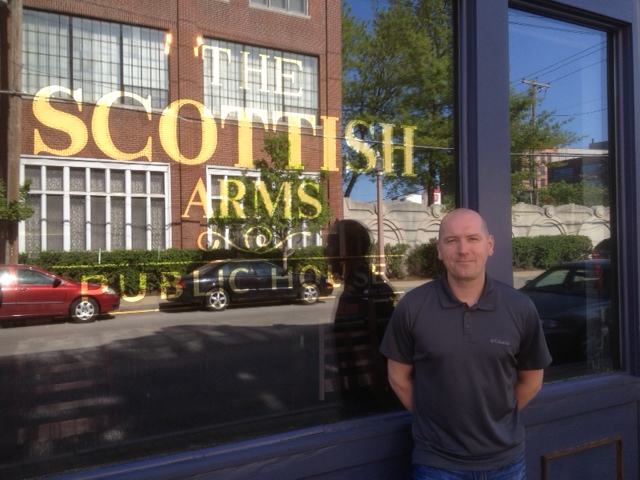 Alastair outside Scottish Arms